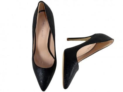 Black pins classic ladies' shoes - 2