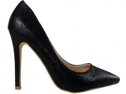 Black pins classic ladies' shoes - 1
