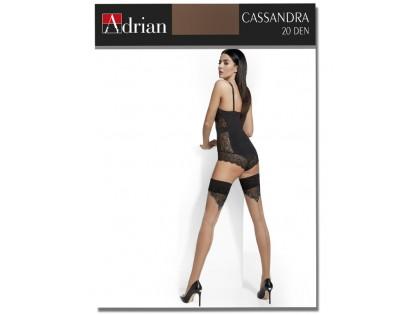 Pończochy samonośne Adrian ze szwem Cassandra - 1