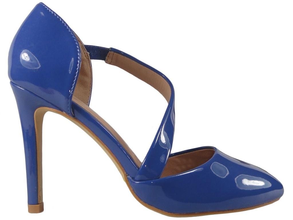 Cornflower Cobalt High Heel Schuhe mit Einkerbung - 1