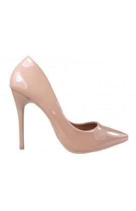 Szpilki beżowe nude cieliste buty damskie