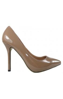 Szpilki damskie khaki jasny brąz zgrabne buty