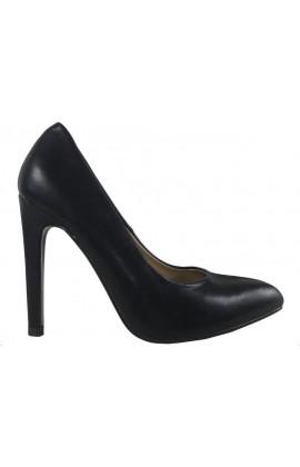 Czarne matowe szpilki buty damskie eko skóra