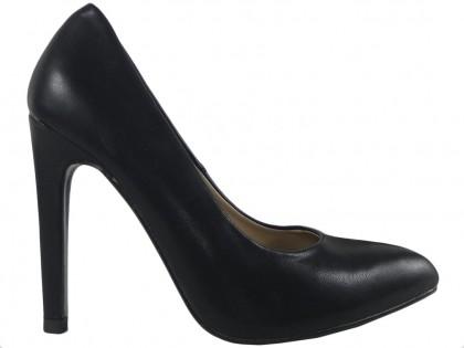 Black matt pins ladies boots eco leather - 1