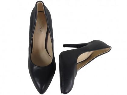 Black matt pins ladies boots eco leather - 2