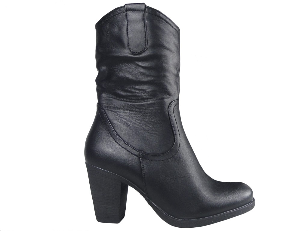 Black women's boots cowgirls eco leather - 1