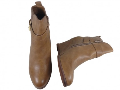 Beige boots on eco-shoes leather - 2