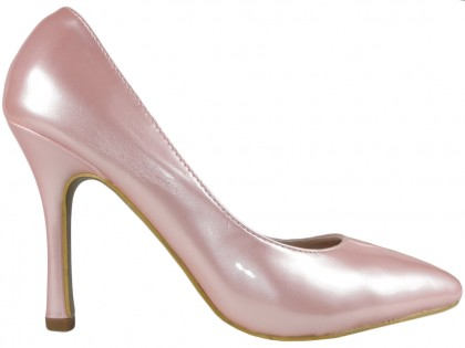 Pale pink pearl pins lacquered - 1