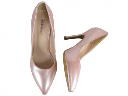 Pale pink pearl pins lacquered - 2