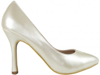 White ecru pearl pins lacquered - 1