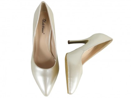 White ecru pearl pins lacquered - 2