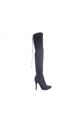 Kozaki za kolano buty damskie zamszowe