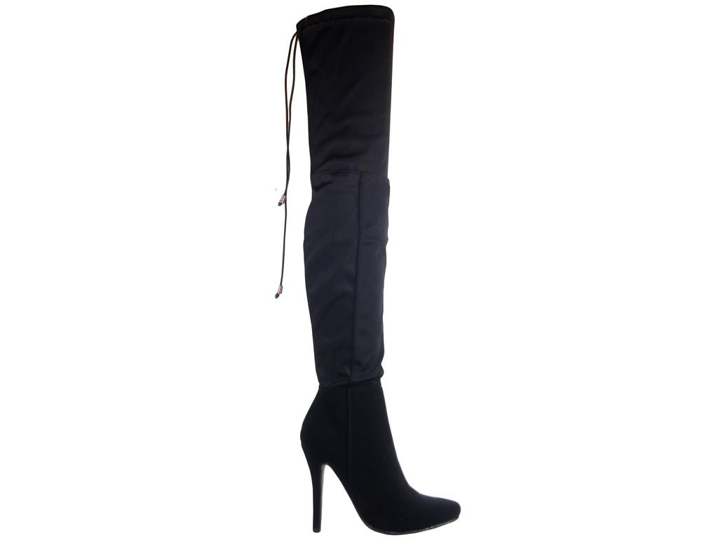 c6d992b4a500b Kozaki za kolano buty damskie ze streczem - KOKIETKI