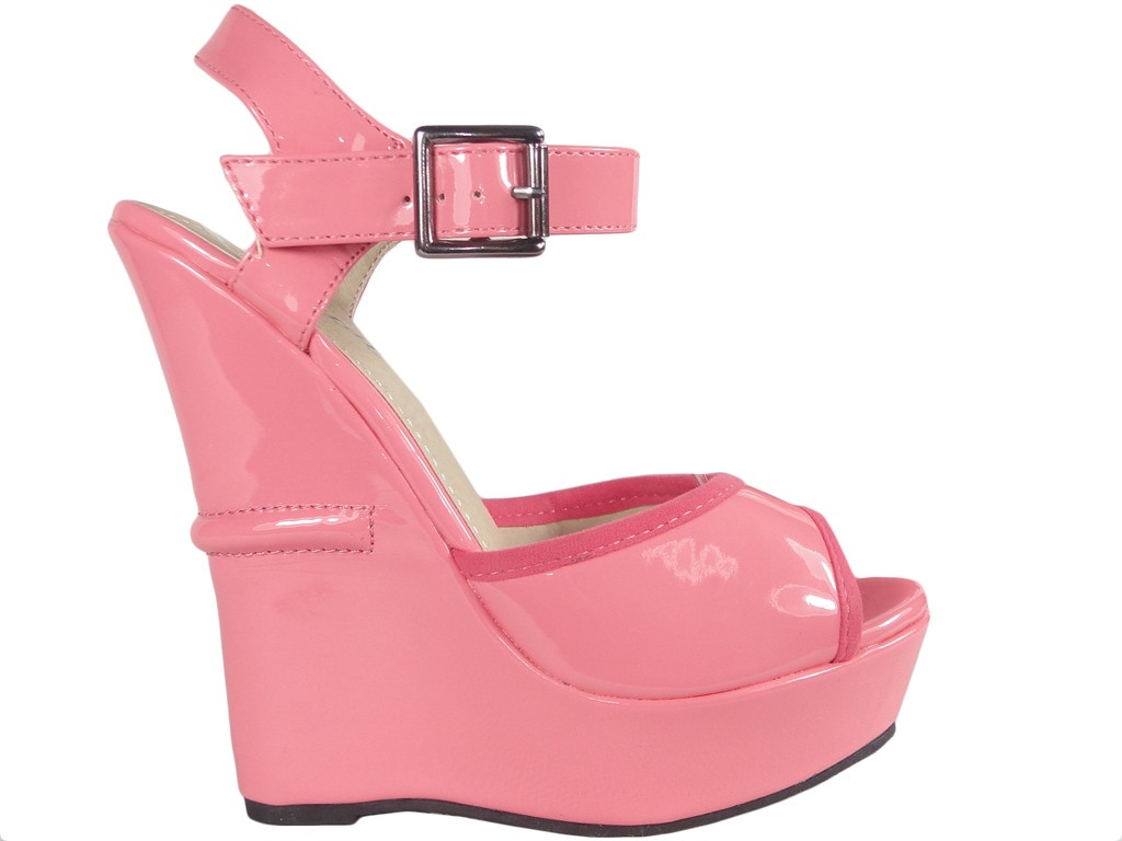 Pink ankle strap sandals - 1