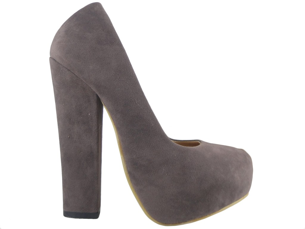 Grey pins on the pole suede boots - 1