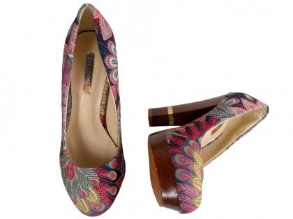 Szpilki na platformie buty na słupku kolorowe
