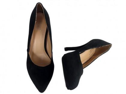 Black suede pins ladies' boots - 2