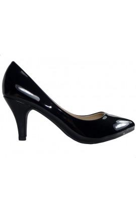 Czarne niskie szpilki buty damskie eleganckie
