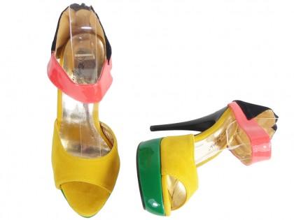 Sandały na szpilce i platformie buty damskie letnie