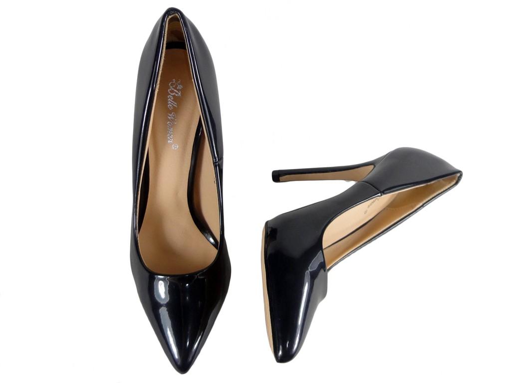 baa8184c2491e Czarne szpilki buty damskie czółenka na szpilce - KOKIETKI