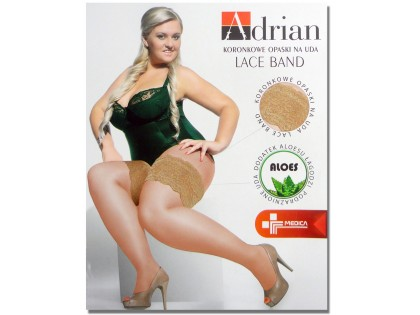 Lace thigh bands size plus self-supporting - 1