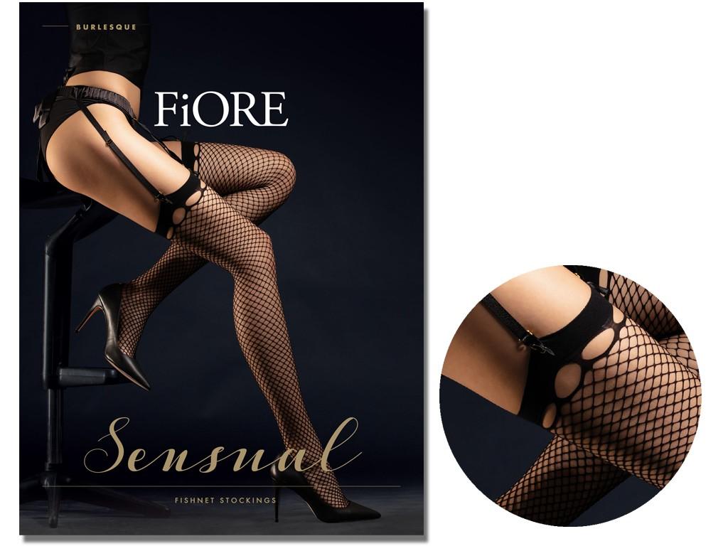 Netzstrümpfe Fiore Burlesque 30 den - 3