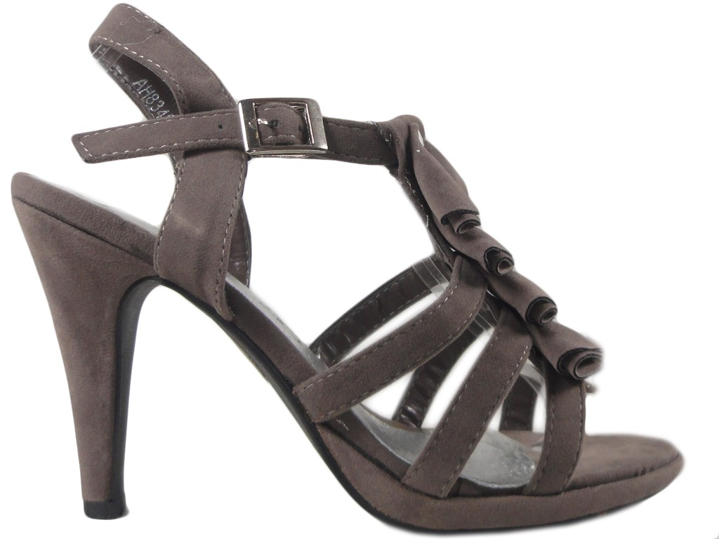 Gray pin sandals for women's shoes - 1