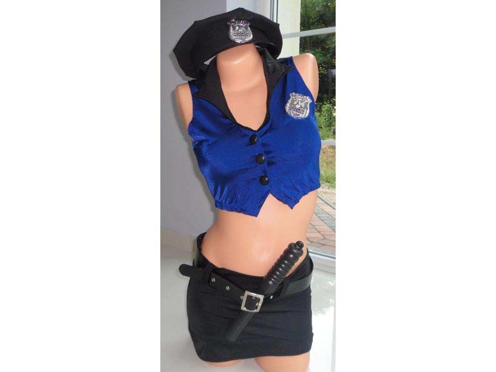 KOSTIUM PRZEBRANIE POLICJANTKA MUNDUR