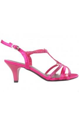 Różowe niskie sandały na szpilce buty damskie