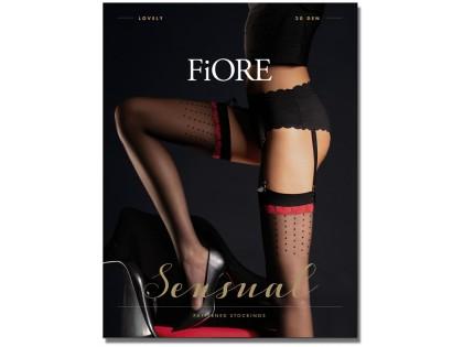 Black matt ladies' stockings for Lovely belt - 1