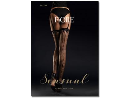 Black women's stockings for cabaret belt with stitching - 1