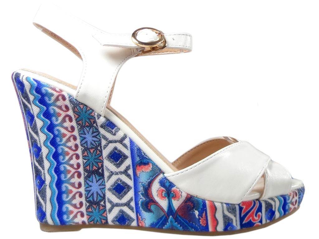 4d5c219b Sandały na koturnie letnie buty damskie - KOKIETKI