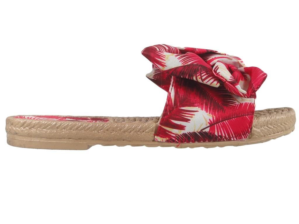 Rote flache Sommerpantoffeln für Frauen - 1