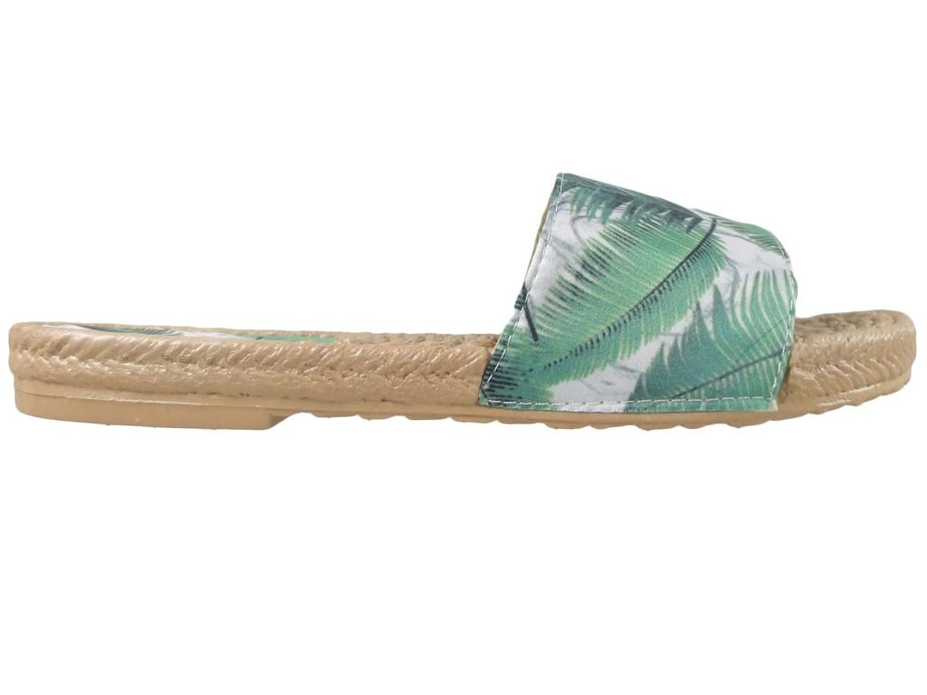 Flache Schuhe für grüne Frauenschuhe - 1