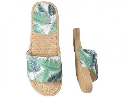 Zielone klapki damskie buty płaskie