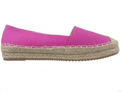 Pink espadrilles flat half boots ladies' shoes - 1