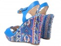 Blue sandals for summer boots - 4