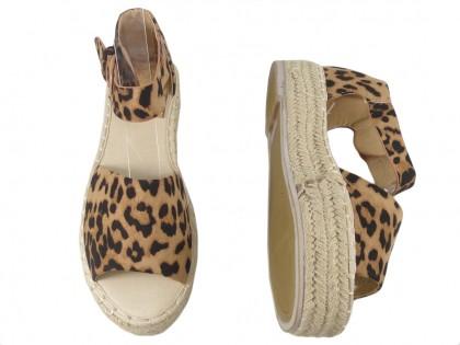 Espadryle leopard