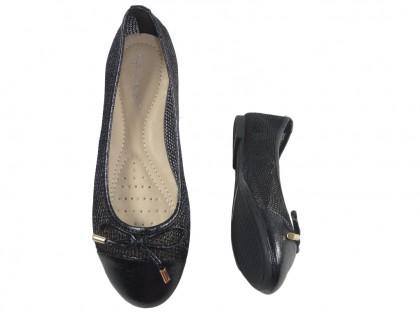 Schwarze Ballerinas mit Damenpumps - 2