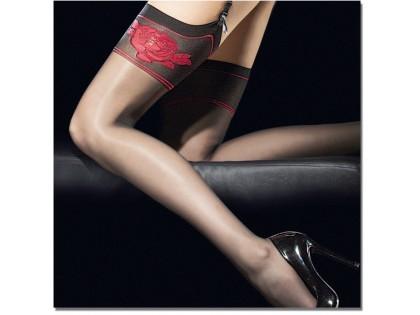 Red Rose Rose Stockings Fiore 20den - 2