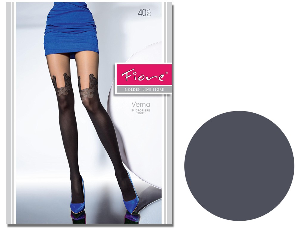 Tights like stockings 40 den Fiore - 3
