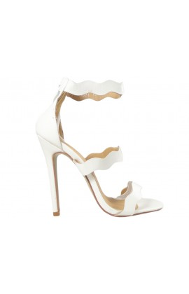 Outlet białe szpilki damskie sandały buty ślubne