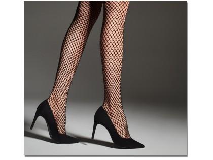 Schwarze Fiore mittelgroße Netzstrumpfhose für Frauen - 2