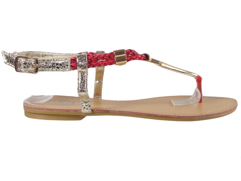 Flat sandals ladies' flip flops' shoes - 1