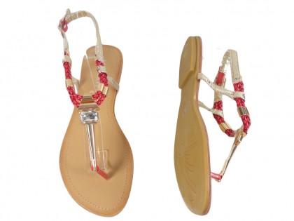 Sandały płaskie buty damskie japonki