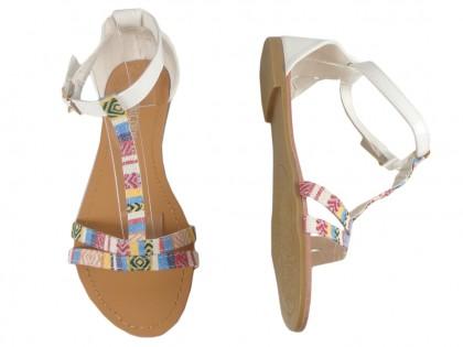 White women's sandals flat summer boots - 2