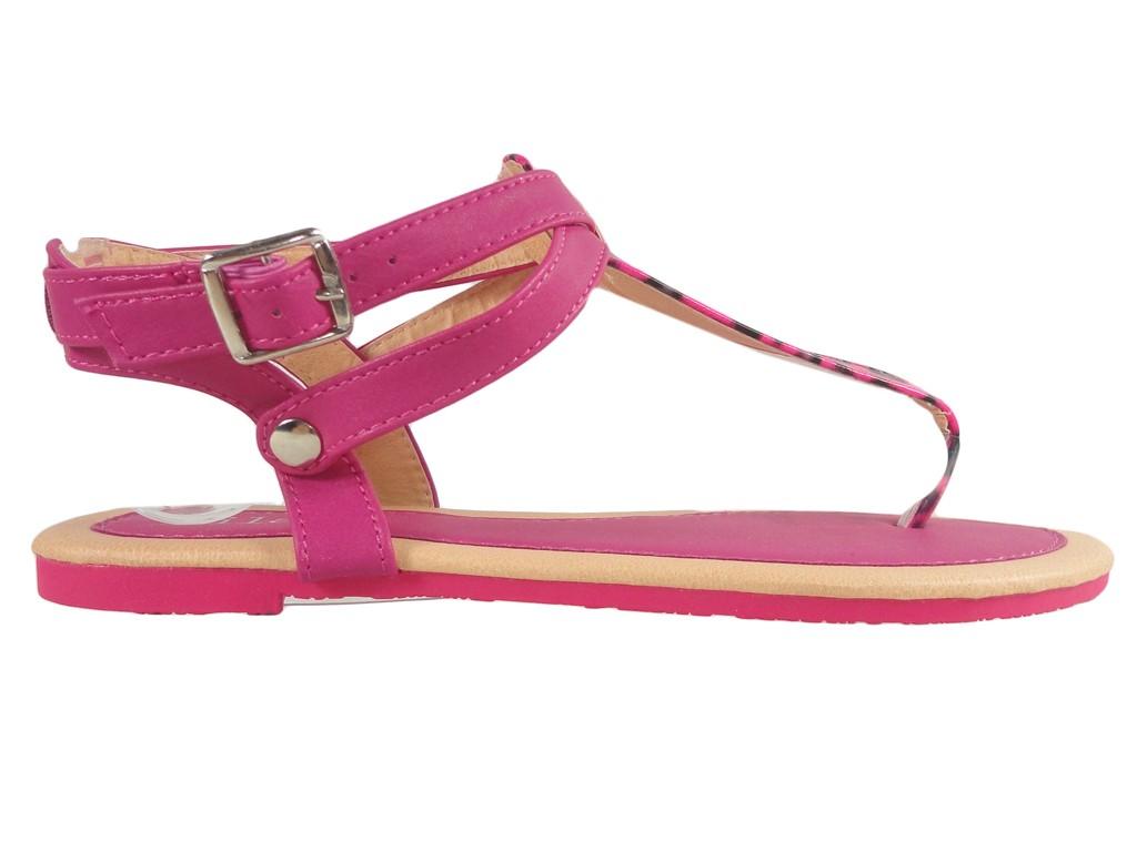 Rosa Damensandalen, Flip-Flops-Sommerschuhe - 1