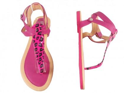 Różowe sandały damskie japonki buty letnie