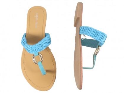 Blaue Damen Flip-Flops flach - 2