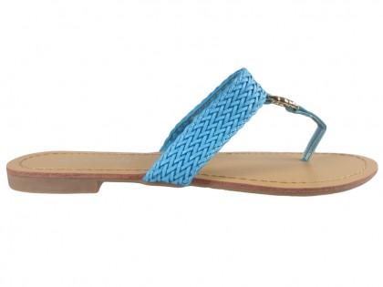 Blaue Damen Flip-Flops flach - 1